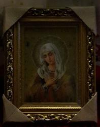 Icoana pictata pe panza- Maica Domnului Umilenie