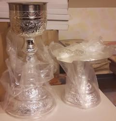 Sfinte Vase argintate