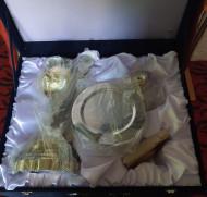 Set Sfinte Vase aurite