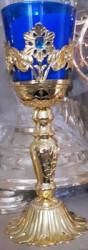 Candela aurita cu piatra pentru altar