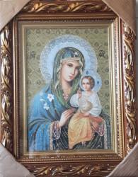 Icoana pictata pe panza Maica Domnului Floarea Nevestejita