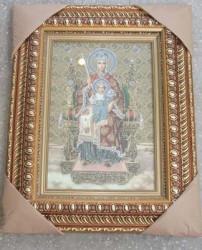 Icoana pictata pe panza Maica Domnului Imparateasa