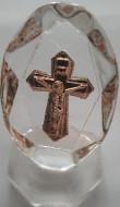 Cruce cristal - auriu