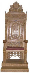 Tron Episcopal - Sculptat in lemn