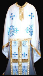 Veșmânt alb Ortodox brodate