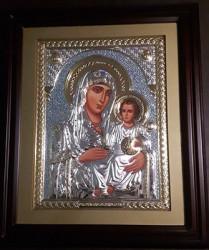 Icoana din argint Maica Domnului Betleemita si Ierusalima