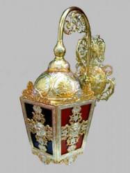 Lampa pentru Biserica Ortodoxă - cu argint și aur