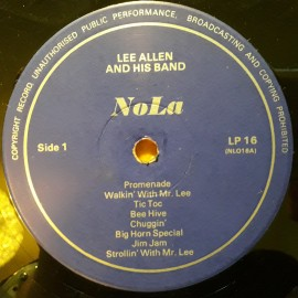 Lee Allen & His Band ‎– албум Down On Bourbon Street изображения