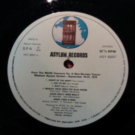 Various – албум No Nukes - From The Muse Concerts For A Non-Nuclear Future - Madison Square Garden - September 19-23, 1979