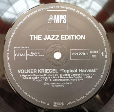 Volker Kriegel – албум Topical Harvest