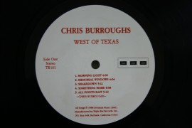 Chris Burroughs ‎– албум West Of Texas изображения