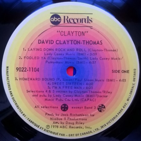 David Clayton-Thomas – албум Clayton