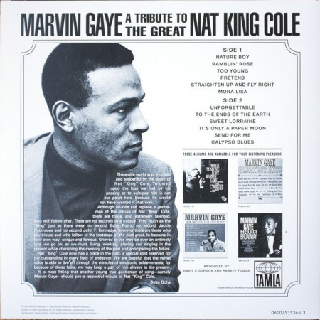 Marvin Gaye ‎– албум A Tribute To The Great Nat King Cole