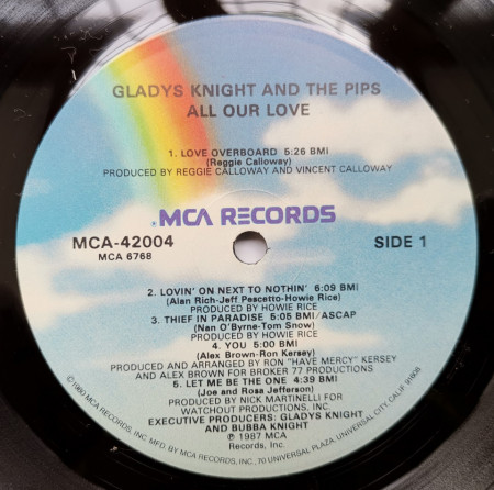 Gladys Knight And The Pips ‎– албум All Our Love