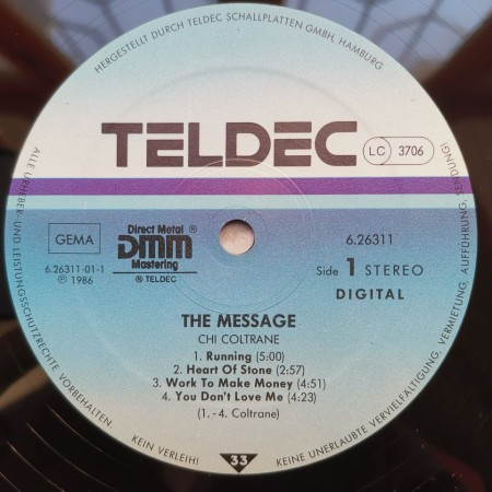 Chi Coltrane – албум The Message