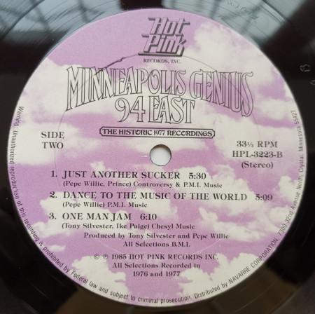 94 East – албум Minneapolis Genius (The Historic 1977 Recordings)