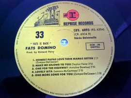 Fats Domino ‎– албум Fats Is Back