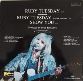 Melanie – сингъл Ruby Tuesday (Special Mix '89)