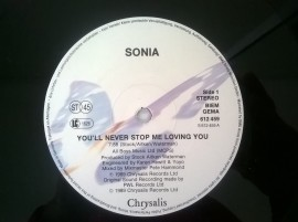 Sonia ‎– сингъл You'll Never Stop Me Loving You