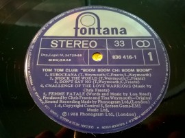Tom Tom Club – албум Boom Boom Chi Boom Boom
