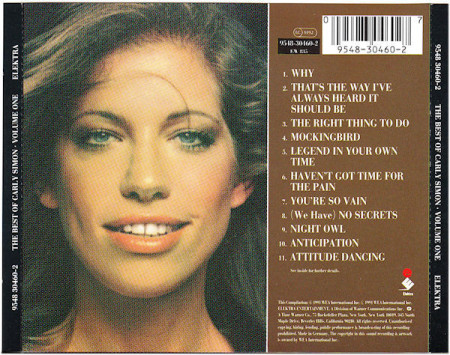 Carly Simon – албум The Best Of Carly Simon (Volume One) (CD)