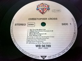 Christopher Cross ‎– албум Christopher Cross