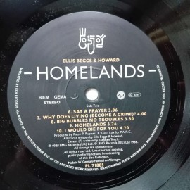 Ellis Beggs & Howard – албум Homelands