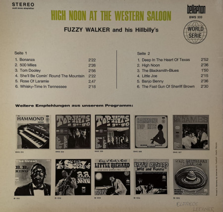 Fuzzy Walker And His Hilbilly's – албум High Noon At The Western Saloon