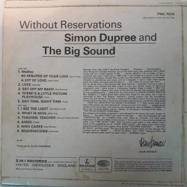 Simon Dupree & The Big Sound ‎– албум Without Reservations