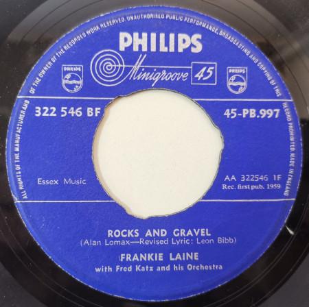 Frankie Laine – сингъл Rocks And Gravel / Jelly Coal Man