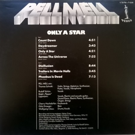 Pell Mell ‎– албум Only A Star изображения