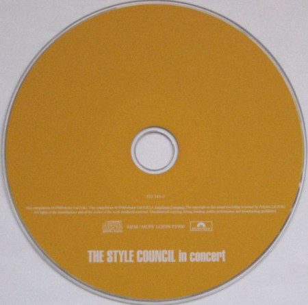 The Style Council – албум In Concert (CD)