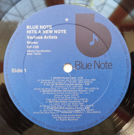 Various – албум Blue Note Hits A New Note