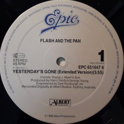 Flash And The Pan – сингъл Yesterday's Gone (Extended Version)