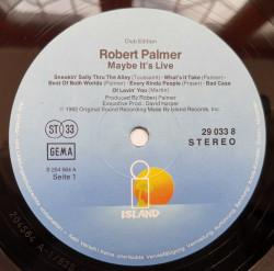 Robert Palmer – албум Maybe It's Live