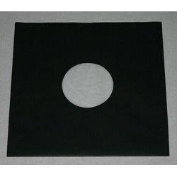 Вътрешен хартиен плик с антистатичен найлон за съхранение на 12' грамофонна плоча - цвят черен