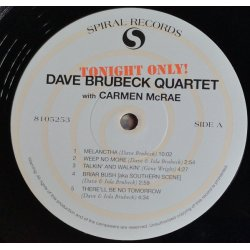 The Dave Brubeck Quartet With Carmen McRae – албум Tonight Only!