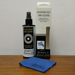 Почистващ спрей без алкохол (200 мл.) за CD, DVD, BLU RAY + микрофибърна кърпа