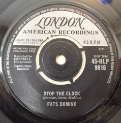 Fats Domino ‎– сингъл Did You Ever See A Dream Walking / Stop The Clock