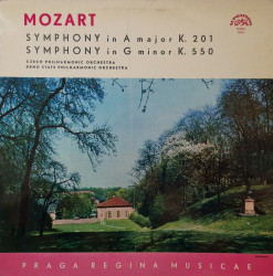 Mozart ‎– албум Symphony In A Major K.201 / Symphony In G Minor K.550