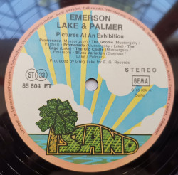 Emerson, Lake & Palmer – албум Pictures At An Exhibition