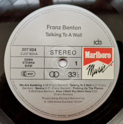 Franz Benton ‎– албум Talking To A Wall