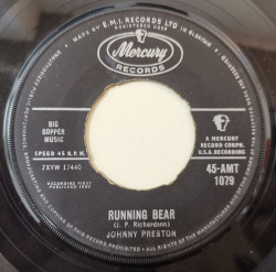 Johnny Preston ‎– сингъл Running Bear / My Heart Knows