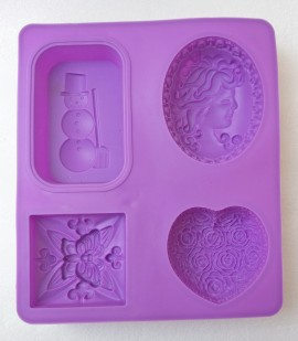 Assorted designer 4 cavity mold - 100gm images
