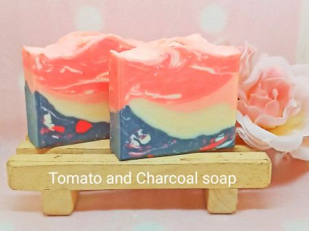 Tomato and Charcoal soap