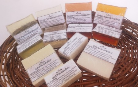 6 piece Trial Pack of Re-meltable soap bases