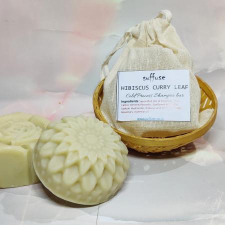 Hibiscus Curry leaf Solid Shampoo Bar
