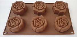 Roses 6 cavity mold - 100gm