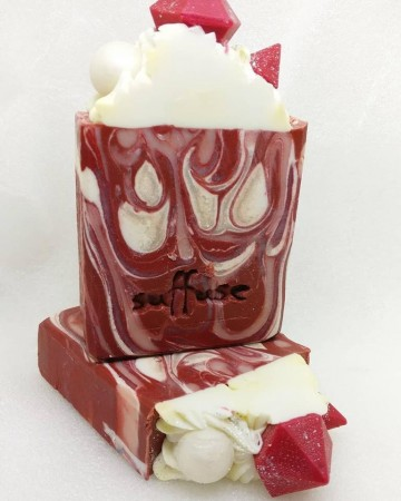 Pearls and Rubies - French Red Clay soap