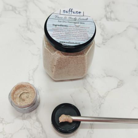 Face & Body Scrub For Dry Damaged Skin